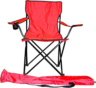 VMI Folding Chair with Cupholder, Red