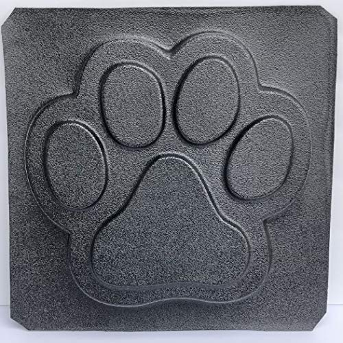 KAP Creations Large Dog Paw Print Stepping Stone Plastic Mold Concrete Cement