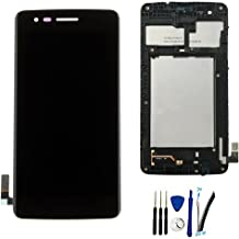 SOMEFUN LCD Display Screen digitizer Touch Assembly for L G K Series K4 2017 M160 / Phoenix 3 M150 / Risio 2 M154 / Fortune M153 / Rebel 2 L58VL W/Frame