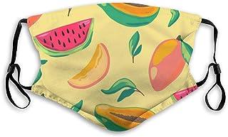 mascarilla lavable reutilizable frutas tropicales ,