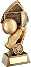 "Lapal Dimension Brz/gouden voetbal met gedraaide achtergrond trofee (1"" centrum) - 7"""