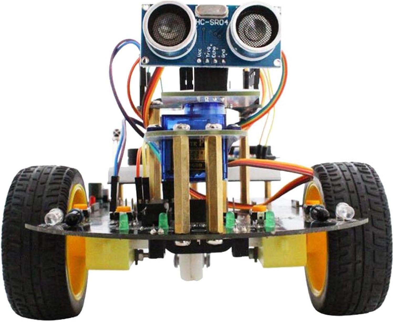 Perfk Roboter Auto 2WD Kit Ultraschall Sensor Programmierung intelligente Roboter Car Kit für Arduino DIY
