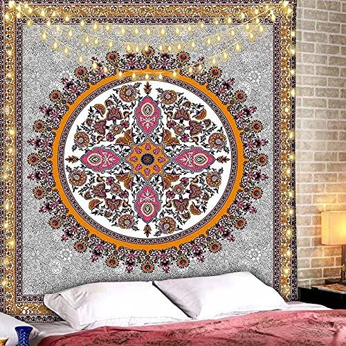 Tapiz floral decoración de la habitación colgante grandes tapices hippie brujería tapiz bohemio tela colgante A4 180x230cm