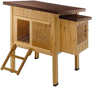Ferplast Poulailler maisonnette pour poules pondeuses HEN HOUSE 10 d'extérieur, en bois FSC, pour environ 4 poules, access...