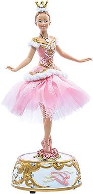 Kurt Adler 10-Inch Pink Musical Base Ballerina Figure