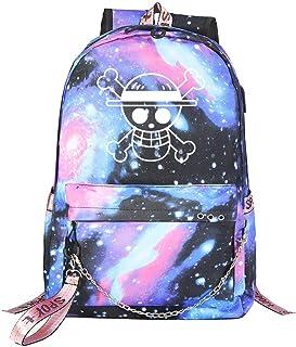 Mochila de Anime One Piece Cosplay Anime Mochila Escolar Estudiantes Mochila para Portátil Backpack Bolsa Casual Bandolera
