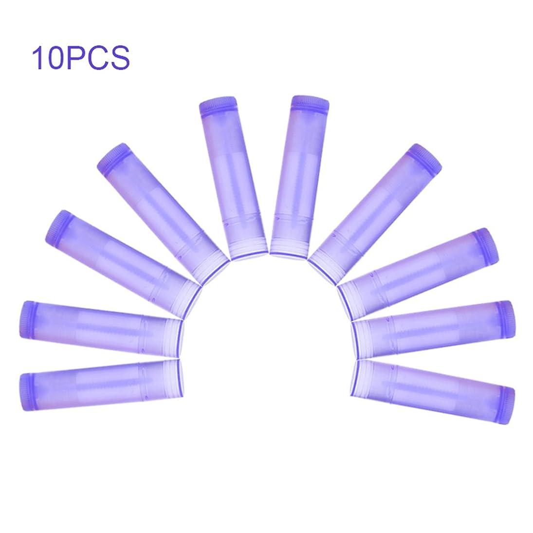 強盗スノーケルテープNrpfell 10本 パープル リップスティック 空のチューブ ワックスチューブ リップスティック DIYリップスティックチューブ 化粧品包装ボトル5g