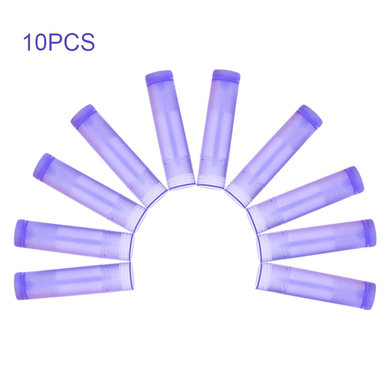 悪性腫瘍軽減条件付きNrpfell 10本 パープル リップスティック 空のチューブ ワックスチューブ リップスティック DIYリップスティックチューブ 化粧品包装ボトル5g