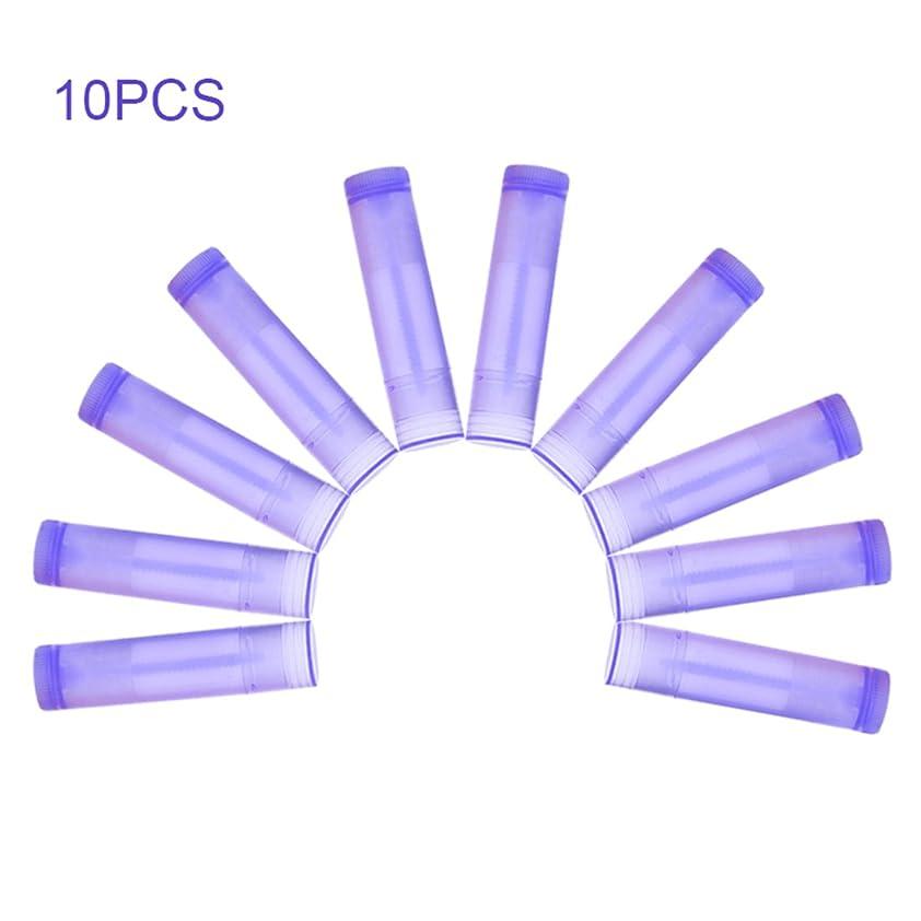 レキシコン風味練習したNrpfell 10本 パープル リップスティック 空のチューブ ワックスチューブ リップスティック DIYリップスティックチューブ 化粧品包装ボトル5g