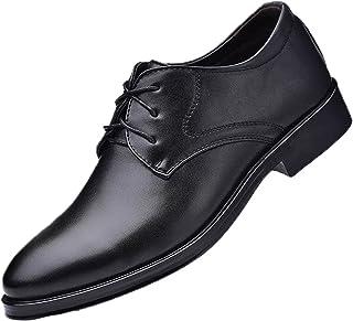 Zapatos de Vestir para Hombre Zapatos de Cuero con Cordones Transpirables de Corte bajo concisos de Color sólido con Estil...