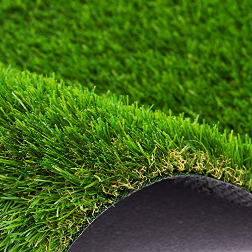 AYOHA 6 FT x 10 FT Artificial Grass, Realistic Fake Grass Deluxe Synthetic Turf Thick Lawn Pet Turf, Indoor/Outdoor Landscape, Easy to Clean with Drain Holes, Non-Toxic, High Density, 35mm