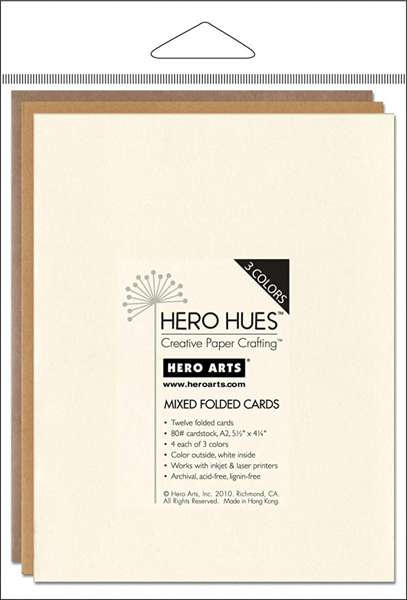 Hero Arts Rubber Stamps Hero Hues Mixed Folded Cards, Earth