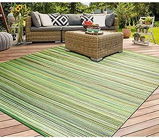 SMM006 Reversible Indoor/Outdoor Rugs-(Green,8x10)