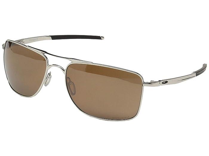 Oakley Gauge 8 L (Polished Chrome w/ Prizm Tungsten Polar) Sport Sunglasses
