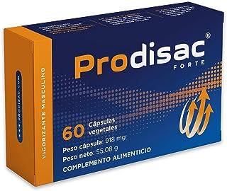 Prodisac ® Forte | Aumento de resistencia y potencia sexual de manera Natural | Acción instantánea | 60 cápsulas vegetales de alta concentración.