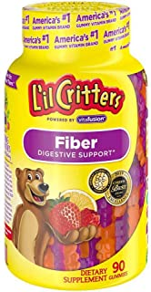 Lil Critters Fiber, Gummy Bears, 90 ct (Pack of 3)