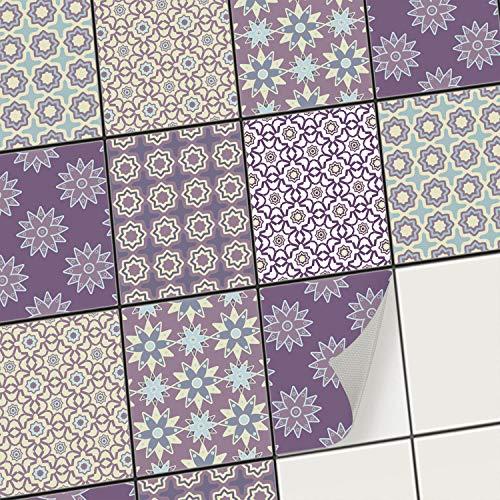 creatisto Mosaik-Fliesen Fliesensticker Fliesenfolie - Aufkleber Sticker für Wandfliesen I Stickerfliesen - Mosaikfliesen für Küche, Bad, WC Bordüre (20x25 cm I 6 -Teilig)