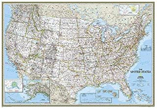 National Geographic: United States Classic Wall Map - Laminated (43.5 x 30.5 inches) (National Geographic Reference Map)