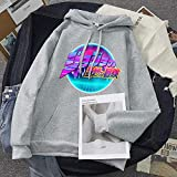 Li Largo JoJo's Bizzare Adventure Hoodie Unisex Men's Men's Women's con Capucha de granizada Sudadera Streetwear Streetwear Sudadera básica (Color : 7, Size : Medium)