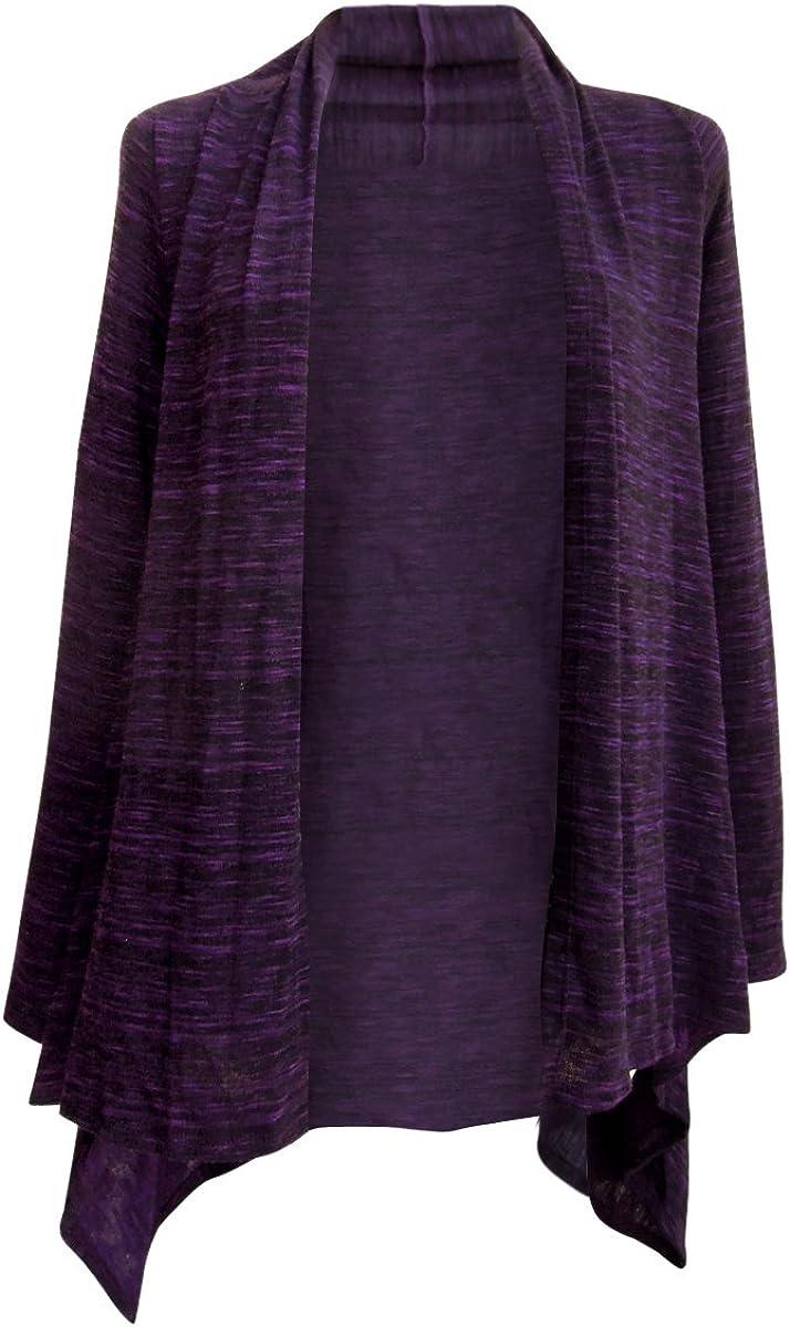 Nature Art Women Long Flyaway Cardigan Sweater Coat Lace Back Asymmetrical