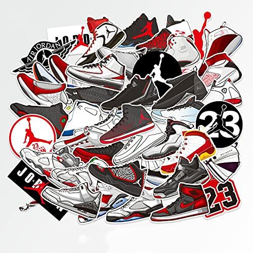 Zapatos de Moda Tide Brand Equipaje Maleta Maleta Pegatinas Trolley Case Laptop Skateboard Guitar Impermeable 46 Uds