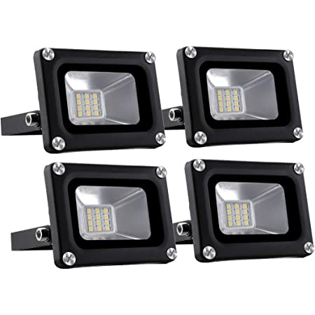 10X 10W LED 12V Fluter Flutlicht Außen IP65 Strahler Scheinwerfer kaltweiß