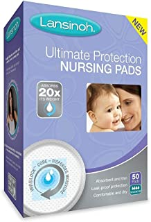 Lansinoh Ultimate Protection Nursing Pads, 50 Count, Day or Nighttime (2 Pack)