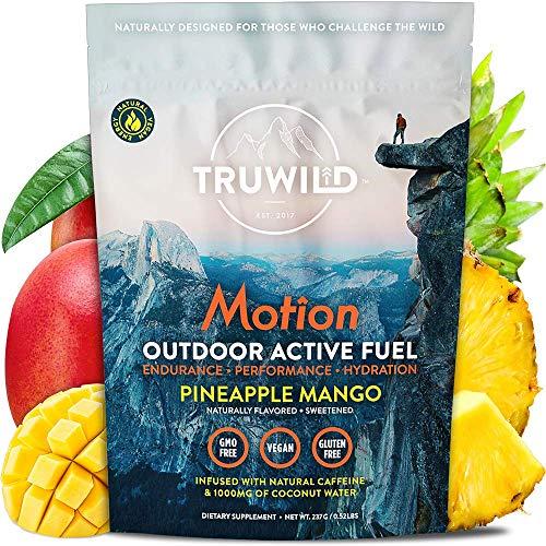 TRUWILD Motion - All Natural Pre Workout Powder Drink Mix for Men and Women - Plant Based Vegan Keto Preworkout Energy Drink Supplement - Amino Acids - Creatine Free - No Crash (Pineapple Mango)