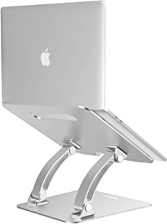 "Nulaxy Laptop Stand, Ergonomic Adjustable Laptop Riser Computer Laptop Stand Compatible with Apple MacBook, Air, Pro, Dell XPS, HP, Samsung, Lenovo, All Laptops 10-17.3"", Supports Up to 22 Lbs -Silver"
