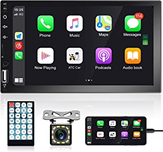 Double Din Car Stereo 7 Inch HD Capacitive Touch Screen Car Radio Bluetooth FM Radio TF USB Mirror Link D-Play Multimedia ... photo