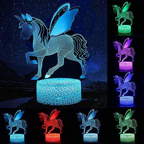 Fernbedienung oder Touch Control 3D LED Nachtlicht Tisch Schreibtisch Lampe Weihnachten Home Decoration Schöne Geschenke für Kinder