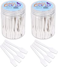 Beauticom Pana Brand (200 Pieces of White Color) Cosmetic Make Up Disposable Plastic 2.5