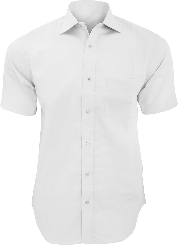 KUSTOM KIT - Camisa de Manga Corta Formal No necestia Plancha Modelo Premium Hombre Caballero - Fiesta/Trabajo/Eventos