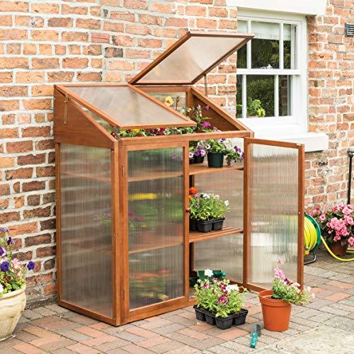 Rowlinson HWGROWST2 Hardwood Mini Greenhouse