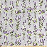 ABAKUHAUS Garten Gewebe als Meterware, Lavendel-Hortensie,