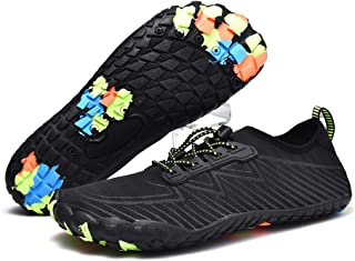 Diercosy Water Shoes for Men Water Sports Shoes Barefoot Fivefinger Toe Quick-Dry Lightweight Anti-Slip for Beach Surfing Sailing Swimming Yoga