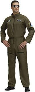 Top Gun Costume Men Adult Women Flight Suit Military Fighter Pilot Jumpsuit Cosplay Halloween