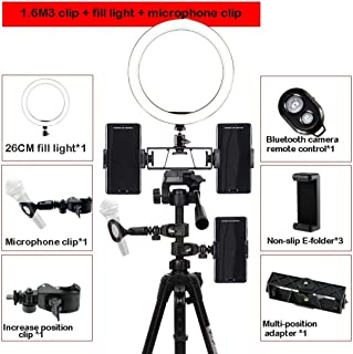 Color : F Tripod Optional JYEMDV 16CMLED Ring Light for Makeup USB Charging 3 Color Light Fill Light Network Red Live Beauty Light