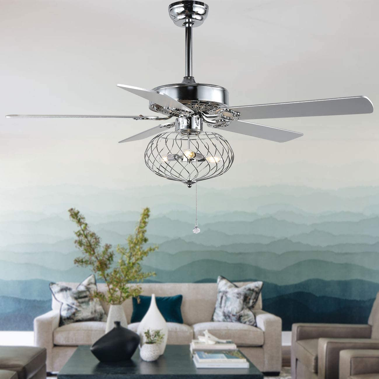 Modern ceiling fan Cheap mail order specialty store 52