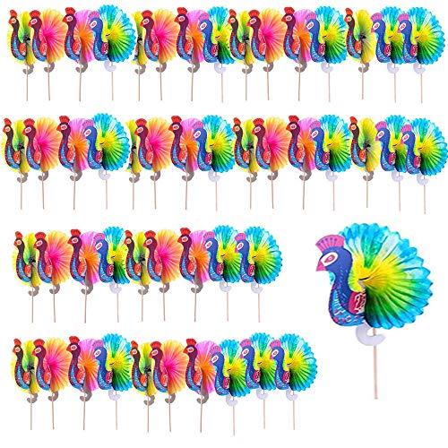 YGHH 50 Pezzi Decorazione del Cocktail, Bastoncini per Cocktail, Bastoncini di Frutta, creatività Multifunzione Legna Bastoncini per Bevande per Antipasti, Frutta, Toppers Cupcake, Cocktail, Bevande