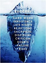 BESPORTBLE Success Inspirational Iceberg Posters Motivational Wall Art Hanging Tapestries Posters Prints Artwork for Home ...