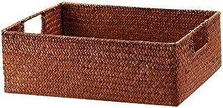 ZTMN Boîte de Rangement Livre Boîte de Rangement Boîte de Rangement Non Jaune Panier de Rangement (Couleur: Couleur café)