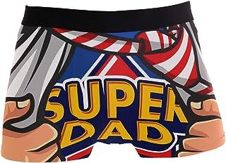 JIRT Slip da Uomo Boxer Dad Is My Supereroe Biancheria Intima da Uomo Tronches Stretch Traspirante Morbido Pouch Soft Unde...