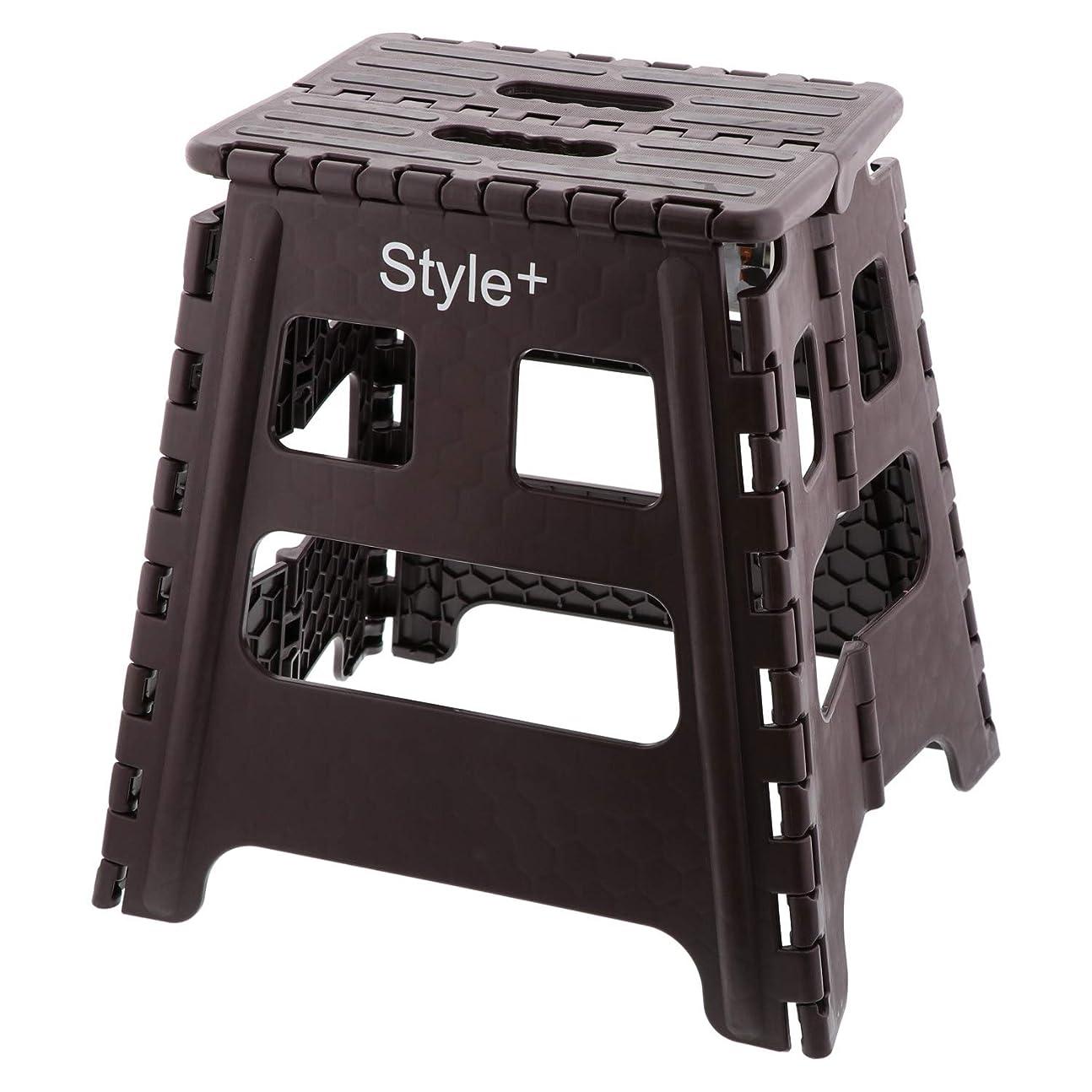 チャネルパシフィック起こりやすいベストコ ブラウン ハイタイプ Style+ 踏み台 ND-4143