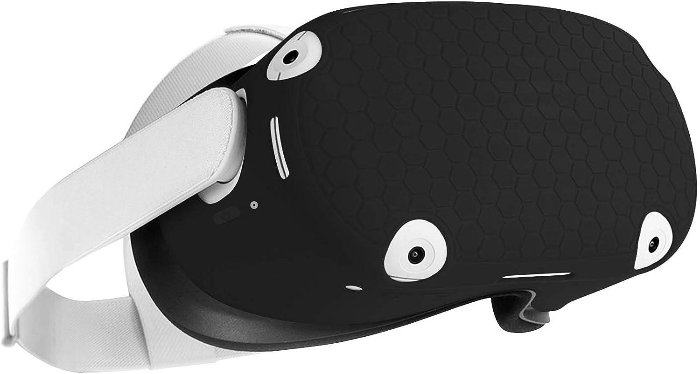 TopPerfekt Funda Protectora para Auriculares Oculus Quest 2, prevención de colisiones y arañazos (Negro)