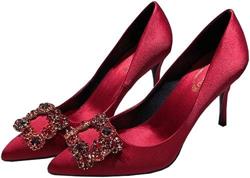 rot8.5cm Farbe ( heels high abendessen wilden schnalle