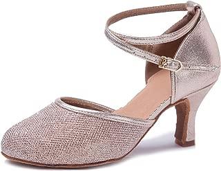 Zapatos Latinos para Mujer Zapatos de Baile para salón Dedos Cerrados Suela de Ante Modelo ESWX-CL