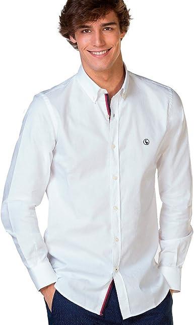El Ganso Classic Fit Yale Camisa Casual, Blanco, Medium ...