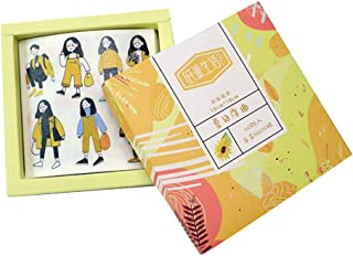 Guoshang 60pcs Cute Vivid Life Scrapbook Stickers Creative Decorative Stickers for Personalize DIY Album Diary Girls,Yellow
