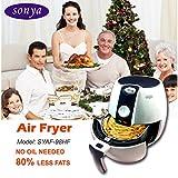 Sonya Air Fryer Oil Free/less Oil New Rapid Air Technology 360°air Heating Circulation-SYAF-98HF